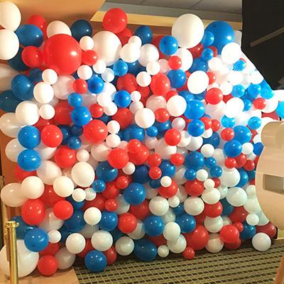 Pozadí fotokoutek balonky