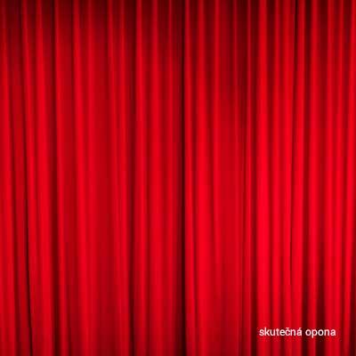 Fotopozadí fotokoutek červená opona