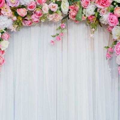 Květinové svatební fotopozadí